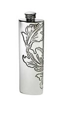 3oz Acanthus Pattern Pewter Purse Flask