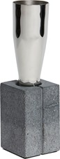 Topian Tall Pewter and Concrete Vase