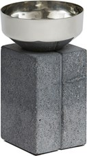 Topian Short Pewter and Concrete Vase