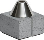 Topian Short Pewter and Concrete Candleholder
