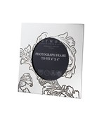 "Acanthus Pattern Small Pewter 4""x4"" Frame"