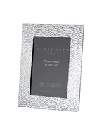 "Large Hammered Pewter 7""x5"" Picture Frame"
