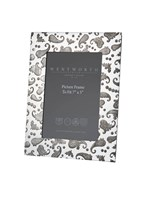 "Large Paisley 7""x5"" Pewter picture Frame"