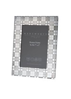 "Large Tartan 7""x5"" Pewter Picture Frame"