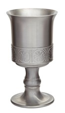 Medieval Antique Finish Pewter Goblet