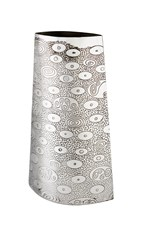 Large Ovals pewter Vase