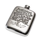 4oz Tree of Life Tree Pewter Pocket Flask