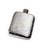 4oz Hammered Pewter Pocket Flask