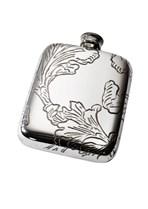 Acanthus Pattern Pewter Pocket Flask
