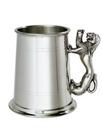 Lion Handle 1 pint pewter Tankard