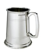 Double Lined 1 pint Heavy pewter Tankard