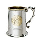 Celtic Gold 1 Pint Pewter and Brass Tankard
