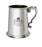 Thistle stamp on 1 pint pewter tankard