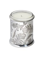 Peacock Patterned Pewter Candle Votive