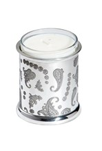 Paisley Pewter candle votive holder