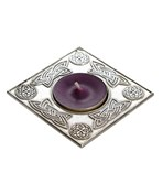 Square celtic t-lite candle holder