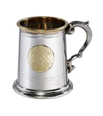 Half pint celtic gold pewter tankard
