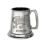 Quarter Pint Welsh Dragon Pewter BabyMug