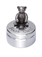 First Curl Teddy Pewter Trinket Box