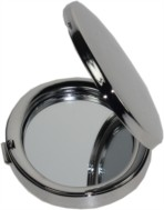 Nickel plated Oval mirror open