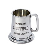 Made in Sheffield Small Pewter quarter pint baby Mug