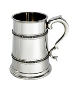 Double celtic bands TWO Pint Pewter tankard