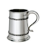 W27CII 1 pint Double Celtic Bands Pewter Tankard