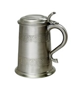 Medieval Antique Finish Pewter 1 Pint Tankard