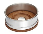 Small Wood and Pewter Bottle Coaster