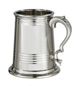 X range 1 pint Worcester Part Satin Pewter Tankard