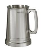 Hereford X Range Heavy satin 1 pint Pewter Tankard