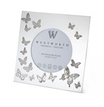 """Butterfly Small Pewter 4""""x4"""" Frame"""