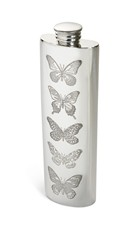 3oz Butterfly Pewter Purse Flask