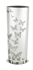 Butterfly Pattern Pewter Vase