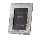 "Large Love Skull Pewter 7""x5"" Picture Frame"