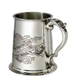 Celtic Birds 1 pint pewter Tankard
