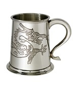 Chinese Dragon 1 pint Pewter Tankard