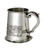 Celtic Dragon 1 Pint Pewter Tankard