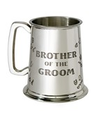 Brother of the Groom 1 pint pewter Tankard