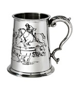 Hunting Scene 1 pint pewter Tankard
