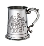 Football Scene 1 pint pewter Tankard