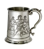 Rugby Scene 1 pint pewter Tankard