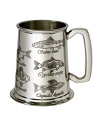 Fish 1 pint pewter Tankard