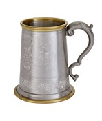 Brass Rim Viking Pewter Tankard | Brass Rim Viking Pewter Tankar
