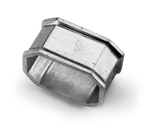 Pewter octagonal napkin ring