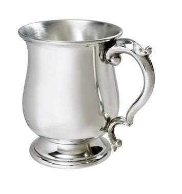 Standard Georgian 1 int pewter Tankard