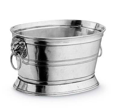 Pewter oval champagne bucket