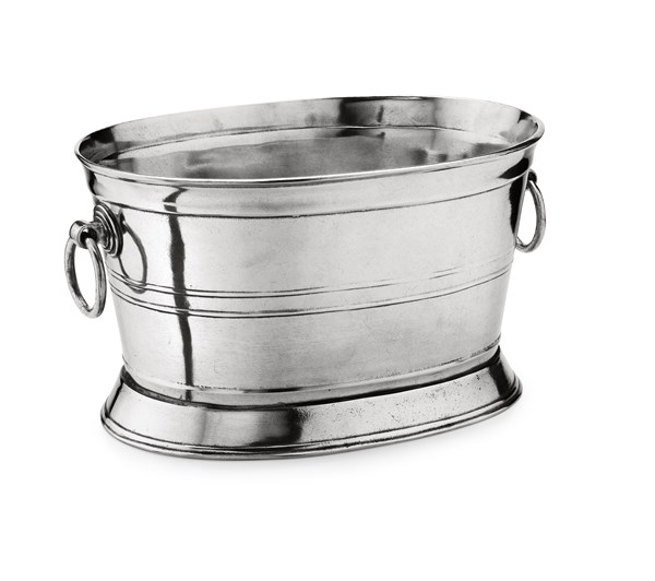Pewter oval wine cooler