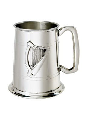Irish Harp Badge 1 Pint Pewter Tankard