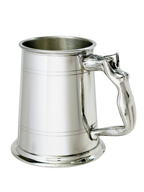 Nymph Handle 1 pint pewter  Tankard